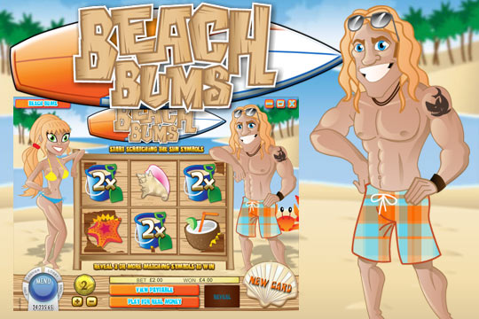 Beach Bums Scratch Card